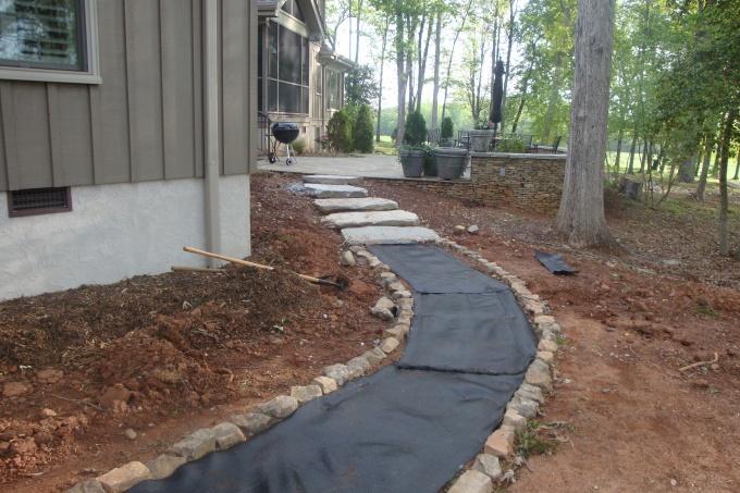 Stone Slab Walkway
